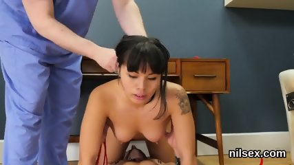 Kinky kitten is taken in anal asylum for painful therapy