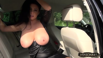 Huge Tits In Car