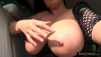 Huge Tits In Car - scene 10