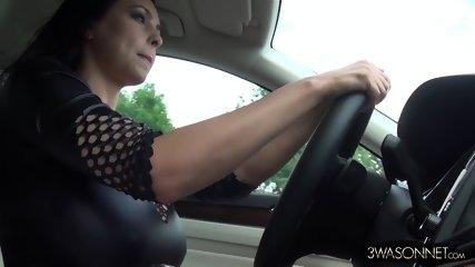 Huge Tits In Car - scene 1