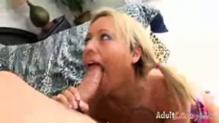 Pigtailed blonde gettin her daily candy - scene 6