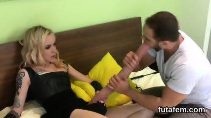 Chicks shag men asshole with monster strap dildos and splatter love juice