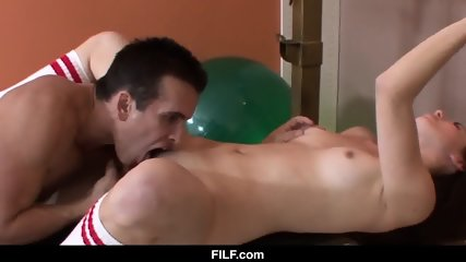 Horny stepsister wants some help working out