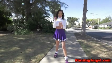 Busty milf assfucked in schoolgirl outfit