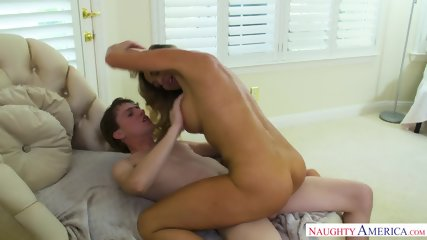 Hot Mommy Makes Young Guy Happy - scene 6