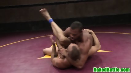 Facialized stud dominated after wrestling