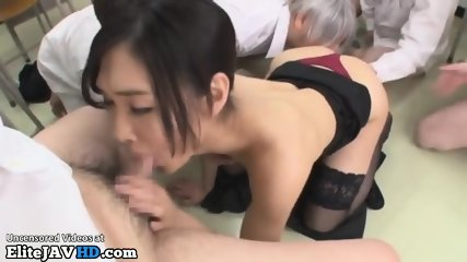 Japanese teacher fucked by horny students