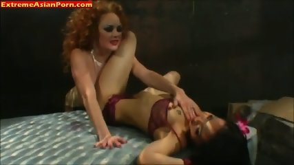 Hot asian chick in lesbian sex
