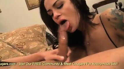 Angelina Valentine Banging and eating thick sperm load