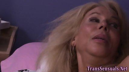 Erotic trans babe banged
