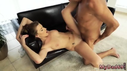Teen with nice tits fucked hard and babes share cock blowjob so no one noticed when his