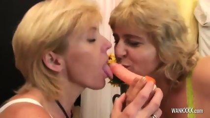 Busty Mature Drills Her Friend Vagina