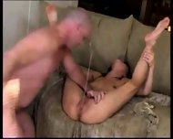 Slowmo Squirt with ugly Baldy Man - scene 4