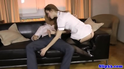 18yo english nurse doggystyled in threeway