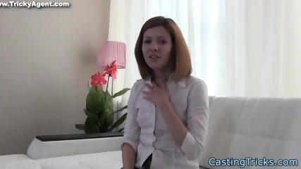Alluring eurobabe screwed at sex casting