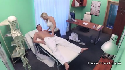 Blonde masseuse ends with doctors dick in pussy