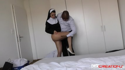 Sexy Nun First Black Cock - scene 1