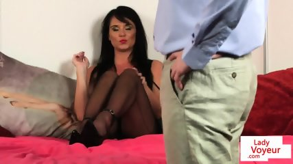 Femdom babe films subs jerkof instructions