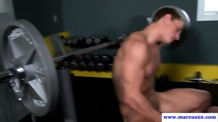 Cocksucking Stud Gets Doggystyled In The Gym