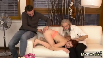 Sugar daddy cums inside me Unexpected practice with an older gentleman