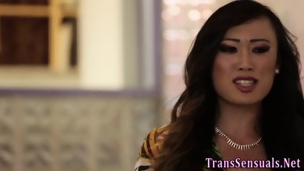 Asian ts facializes slut