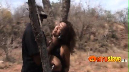 Ebony sex slave swallowing multiple loads of cum