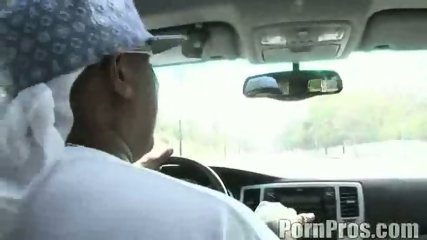 Rachel Solari sucks a HUGE cock on the road