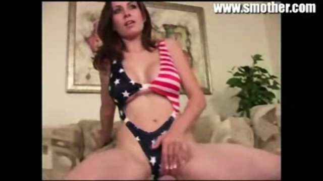 Brunette smothers guy and masturbates while he eats her ass