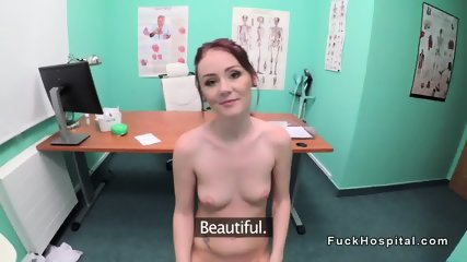 Fake doctor fucks amateur in bathroom