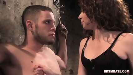 Sexy Brunette Dominates a Horny Dude