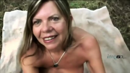 Sizzling hot mature beauty having some sweet fun in the forest