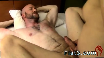 Young gay fisted hanging out in a hotel room after some serious play.