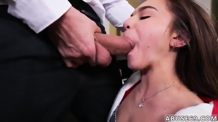 Brunette perfect tits blowjob and big white amateur booty riding than doing shit around