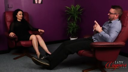 Elegant Lady Watches Masturbation - scene 2