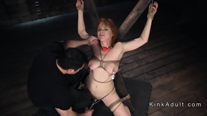 Huge tits redhead anal fucked doggy
