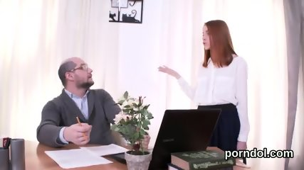 Lovable college girl gets seduced and screwed by her senior instructor