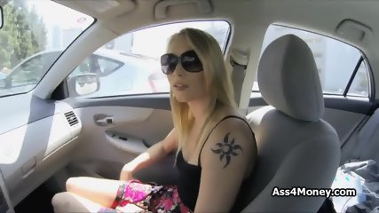 Barista spreading wide for cock and money