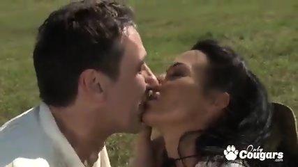 Slutty brunette Sandra Romain ass banged by hard cock