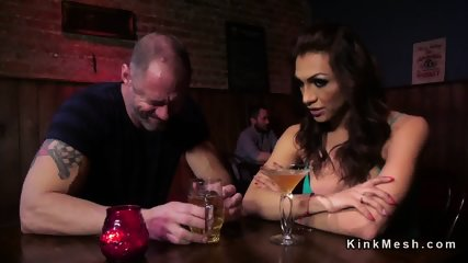 Husband Wife Shemale Porn - Tranny wife punishes husband in bar