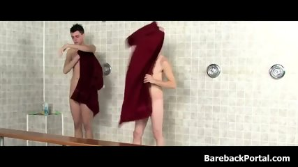 Friendly Shower Leads to Anal Slamming