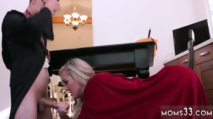 Skinny blonde anal massage Halloween Special With A Threesome