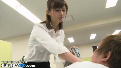 Japanese office sex with super horny secretary