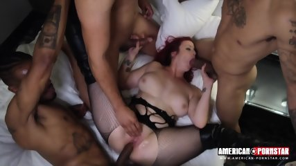 Slut Takes Four Big Cocks