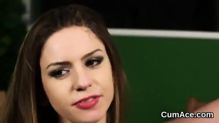 Frisky sex kitten gets cum shot on her face swallowing all the spunk - scene 8