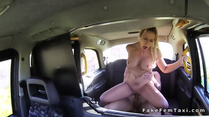 Huge tits blonde cab driver fucks big dick