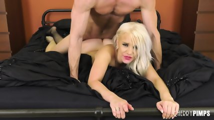Hardcore Bed Action With Blonde Slut