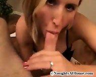 Blond Babe enjoying big Dick - scene 4