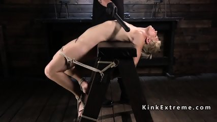 Blonde Milf suffers different hogties