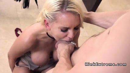 Movie director anal fucks Milf slave