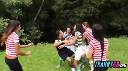 Tranny team smashing the noob referee like machines